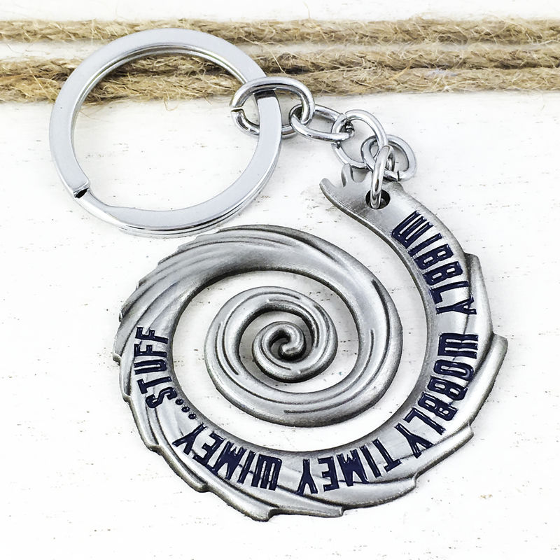 Doctor Who Wibbly Wobbly Timey Wimey Keychain - product images  of