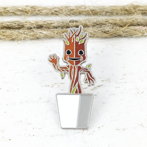 Baby,Groot,Enamel,Pin,baby groot, enamel pin, dancing groot, potted groot, groot in pot, colour pin, guardians of the galaxy