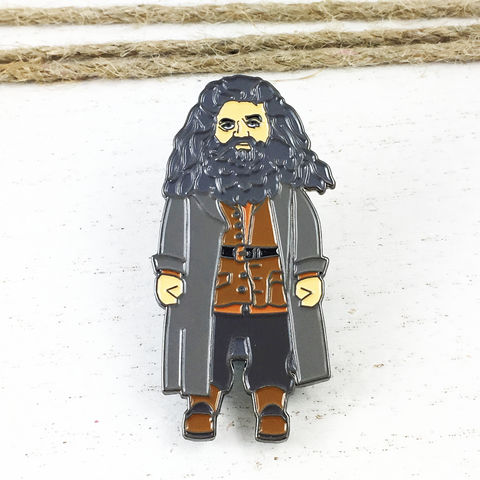 Harry,Potter,Rubeus,Hagrid,Enamel,Pin,harry potter, enamel pin, rubeus hagrid, hagrid, colour, metal, badge, pin, geeky, character, figural