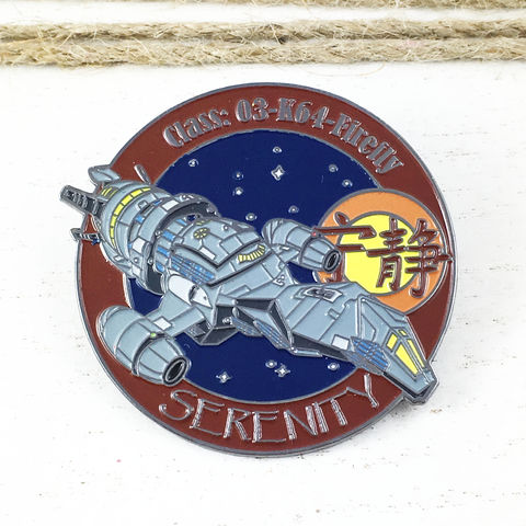Firefly,Serenity,Large,Enamel,Pin,Badge,firefly, serenity, ship, enamel pin, badge, fansets, logo, large, collector, official