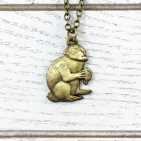 Fantastic,Beasts,Niffler,Necklace,fantastic beasts and where to find them, niffler, necklace, pendant, charm, bronze