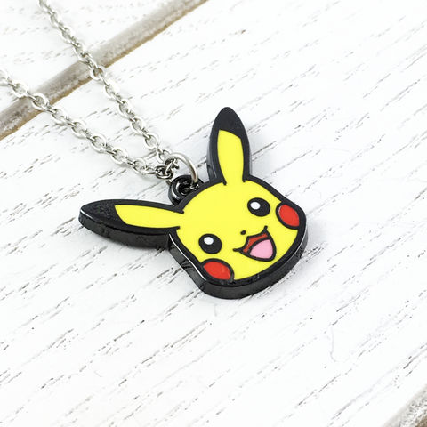 Pokémon,Pikachu,Necklace,pikachu, pokemon, necklace, charm, pendant, stainless steel, geeky, nerdy, pokemon go, yellow