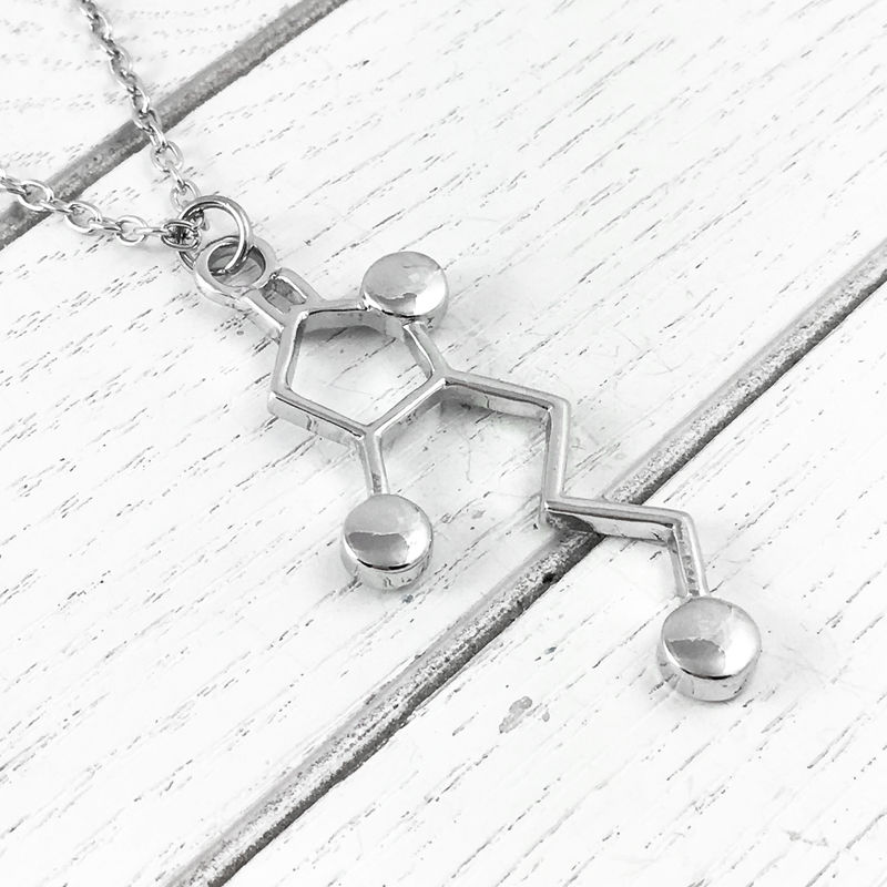 Whiskey Molecule Necklace - product images  of