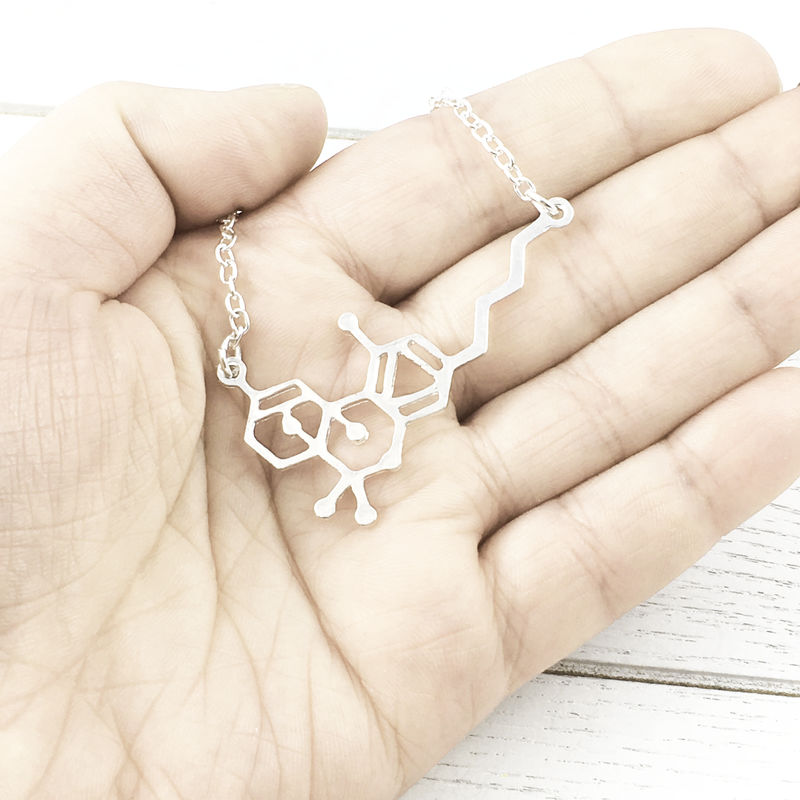 THC Molecule Necklace - product images  of