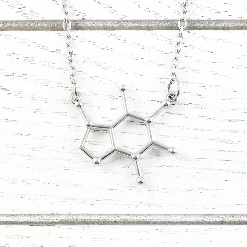 Caffeine Molecule Necklace - product images  of