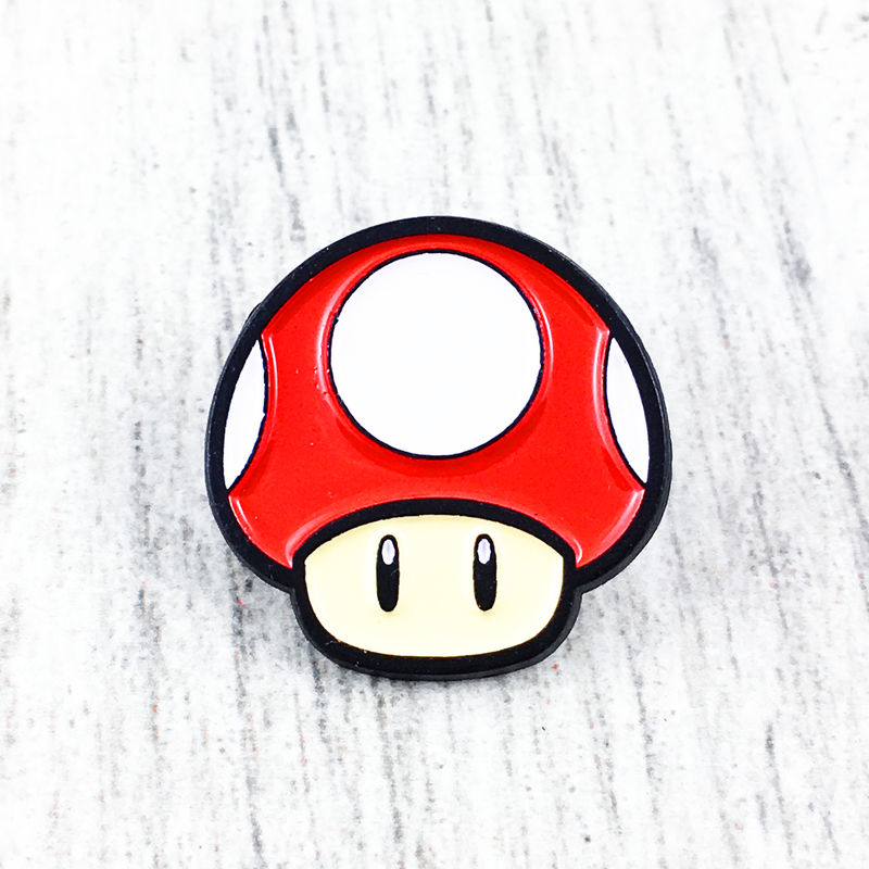 Super Mario Red Mushroom Enamel Pin - product images  of