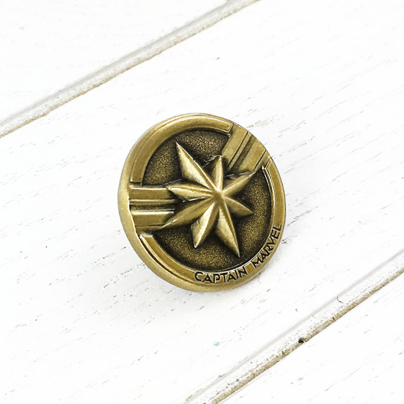 Captain Marvel Bronze Pin - product images  of