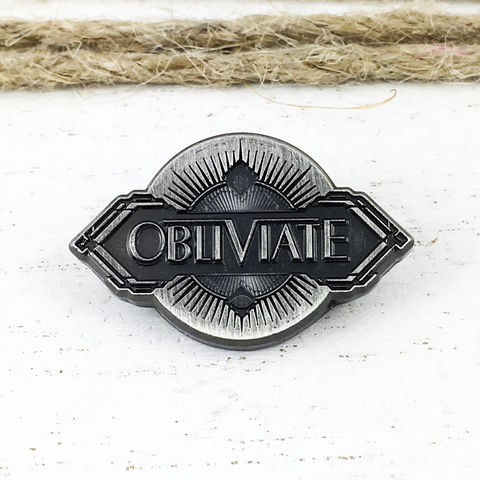 Fantastic,Beasts,OBLIVIATE,Spell,Pin,harry potter, fantastic beasts, pin, obliviate, spell, 1920s, 20s style, pewter, geeky, lapel pin, tie pin, hat pin