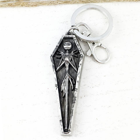 Jack,Skellington,Coffin,Key,Chain,jack skellington, skeleton, keychain, key chain, key ring, nightmare before christmas, jack skeleton, pumpkin king, halloween