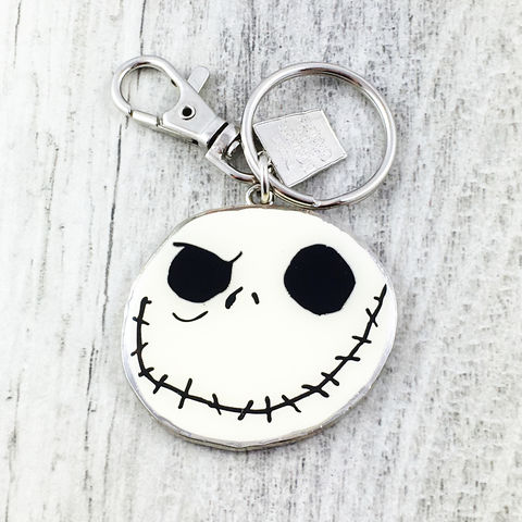 Jack,Skellington,Enamel,Keychain,Jack skellington, jack skeleton, Mr jack, nightmare before christmas, keyring, keychain, key chain, color, halloween, geeky