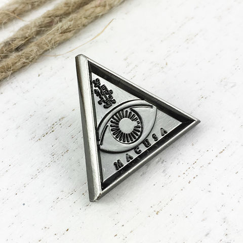 Fantastic,Beasts,MACUSA,Pin,macusa, eye, magical congress, lapel pin, fantastic beasts and where to find them, hat pin, pewter, pendant, black