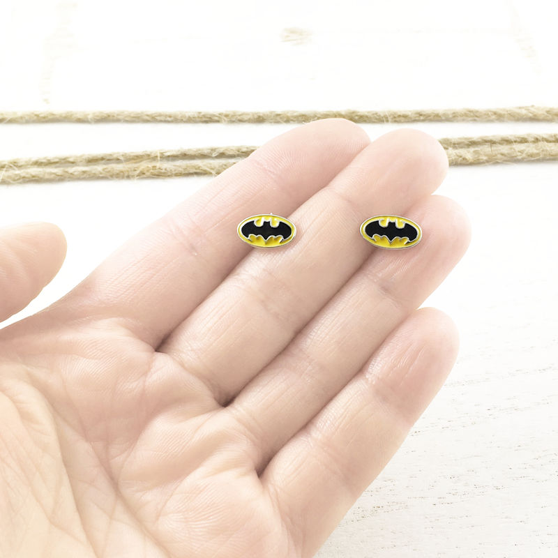 Batman Yellow Stud Earrings - product images  of