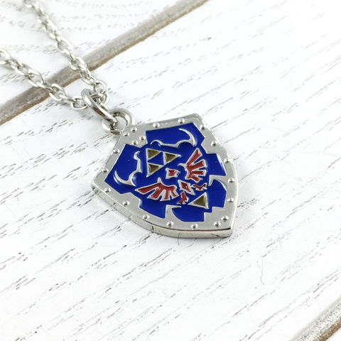Legend,of,Zelda,Link's,Shield,Necklace,legend of zelda, hyrule shield, link's shield, necklace, pendant, jewelry, jewellery, hylian, hylean, gamer girl, geek chic