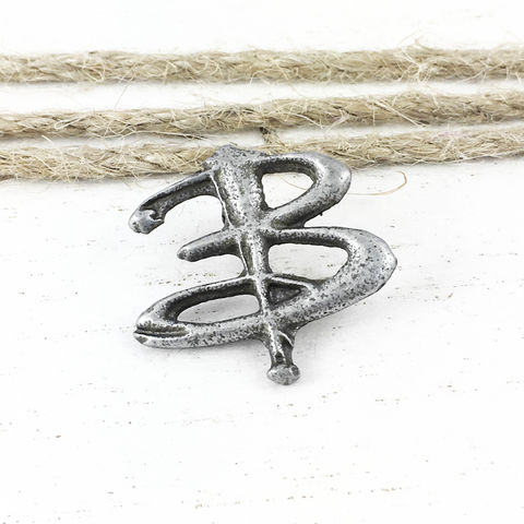 Letter,B,Monogram,Pin,,inspired,by,Buffy,buffy the vampire slayer, pin, lapel pin, tie pin, hat pin, tie tac, tack, metal, buffy, letter B, geeky