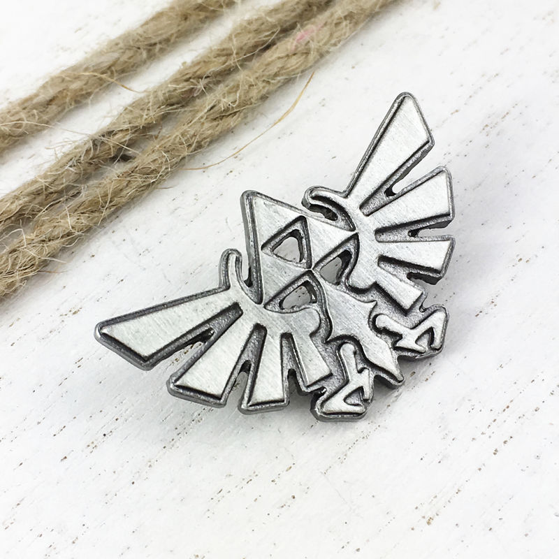 Hyrule Crest Pewter Pin - product images  of