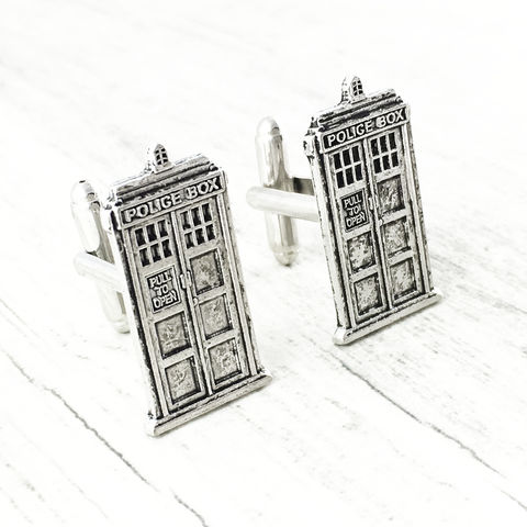 Police,Box,Cuff,Links,tardis cuff links, tardis cufflinks, doctor who, cuff links, police box, accessories, time machine, science fiction, sci fi, cscharms, c's charms, pinznthingz, tardis, blue box, phone box, pewter