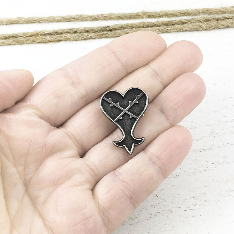 Kingdom Hearts Pewter Heartless Pin - product images  of