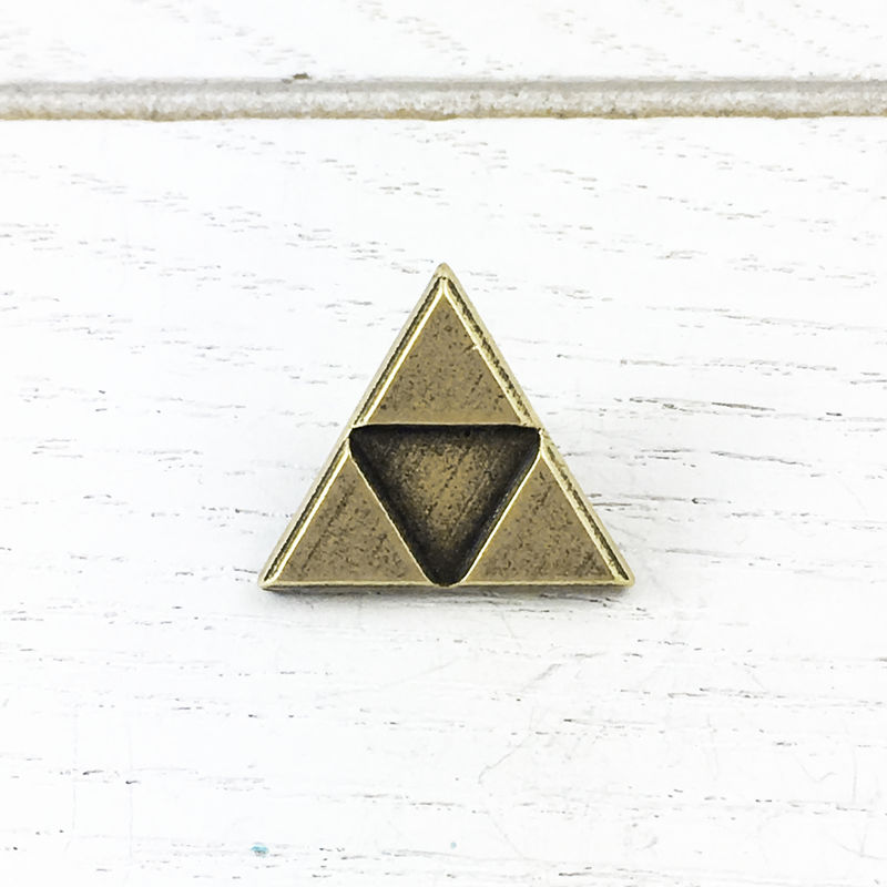 Bronze Triangle Pin - product images  of