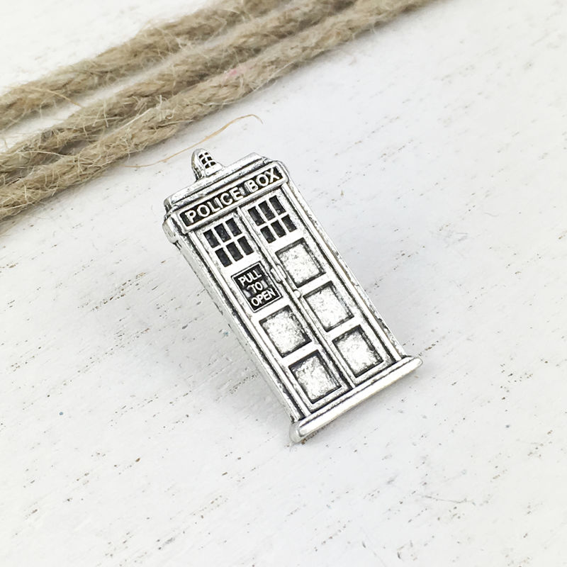 Police Box Pewter Lapel Pin - product images  of