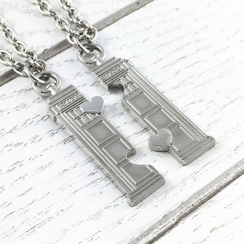 Doctor Who Tardis Friendship Necklace Set - product images  of