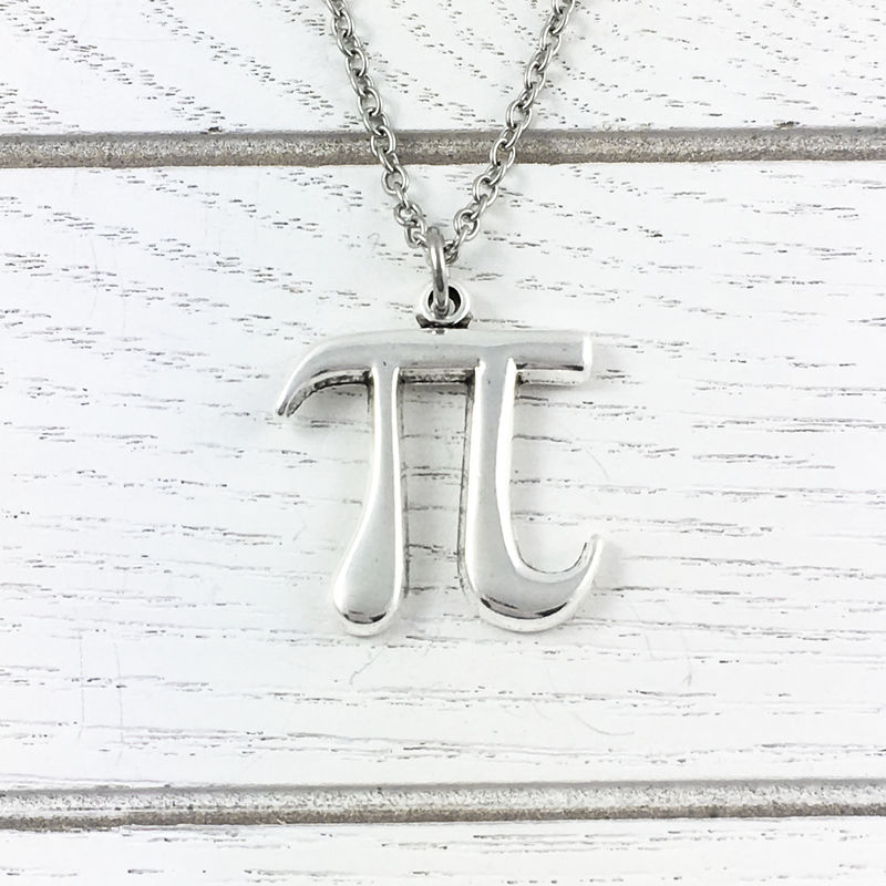 Pi Symbol Necklace - product images  of
