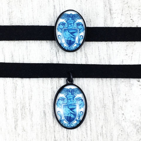 Harry,Potter,Ravenclaw,Choker,Necklace,harry potter, choker, necklace, cameo, ravenclaw, hogwarts, house, geeky, potter head, jewelry, leather, suede