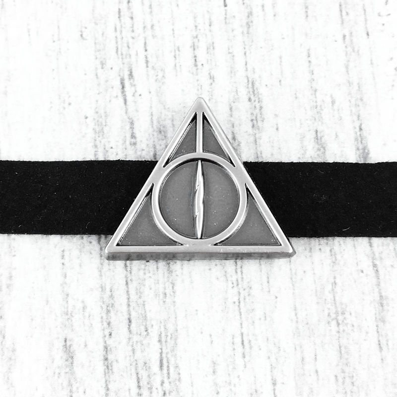 Deathly Hallows Slider Choker Necklace - product images  of