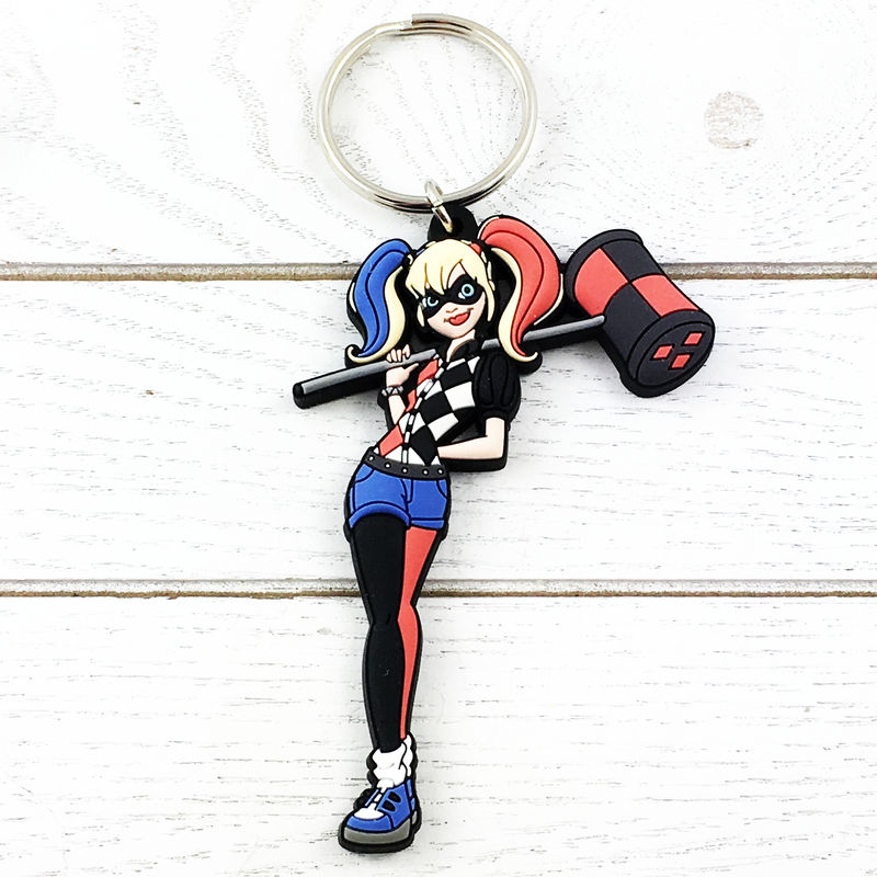 Super Hero Girls Harley Quinn Keychain - product images  of