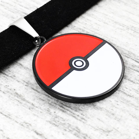 Pokéball,Choker,Necklace,pokemon, pokeball, choker, necklace, pokemon go, jewelry, stainless steel, hypoallergenic