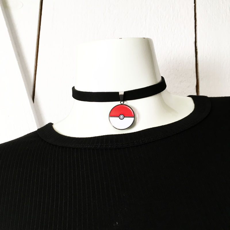 Pokéball Choker Necklace - product images  of