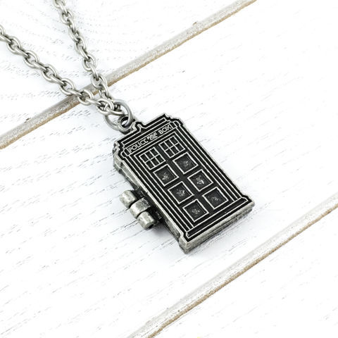 TARDIS,Bigger,on,the,Inside,Locket,Necklace,doctor who necklace, locket, tardis, pewter, bigger on the inside, dr who, silver, geeky