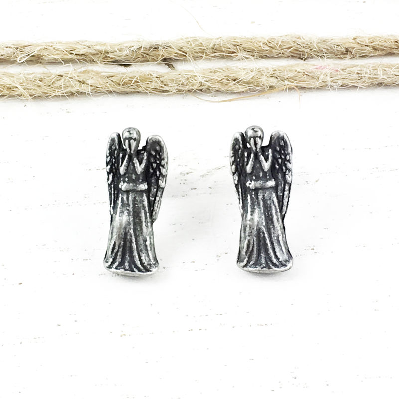 Doctor Who Weeping Angel Stud Earrings - product images  of