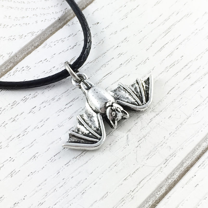 Upside-down Bat Necklace - product images  of