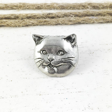 Happy,Cat,Pin,happycat, happy cat, pin, brooch, lapel pin, tie tac, tie tack, lolcats, i can has cheesburger, i can has cheezburger, caption cats, cat lover, silver, grey, british blue, british shorthair, fat cat, happicat, lol cats, failblog