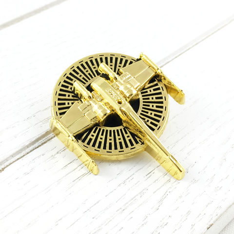 Star,Wars,Golden,X-Wing,Pin,star wars, x-wing, pin, enamel pin, metal, golden, art deco, gold, ship, rebels