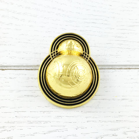 BB-8,Golden,Art,Deco,Pin,bb8, pin, 3D, semi-3D, lapel pin, art deco, droid, gold, golden, enamel, star wars, episode 8, ep viii