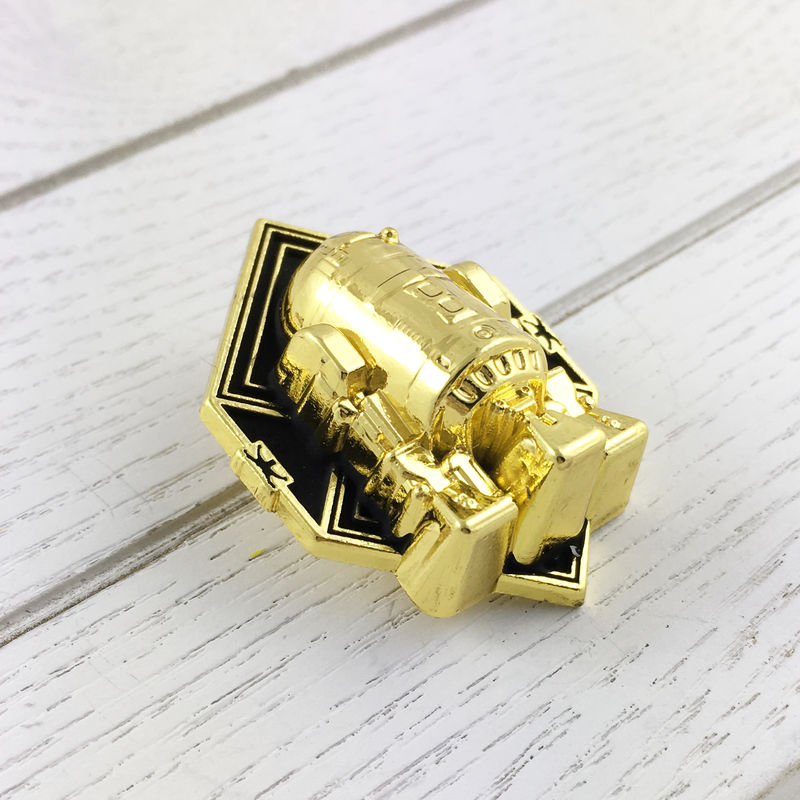 R2D2 Golden Art Deco Pin - product images  of