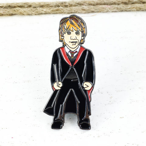 Ron,Weasley,Enamel,Pin,harry potter, enamel pin, ron weasley, colour, metal, badge, pin, geeky, character, figural, fansets, lootcrate