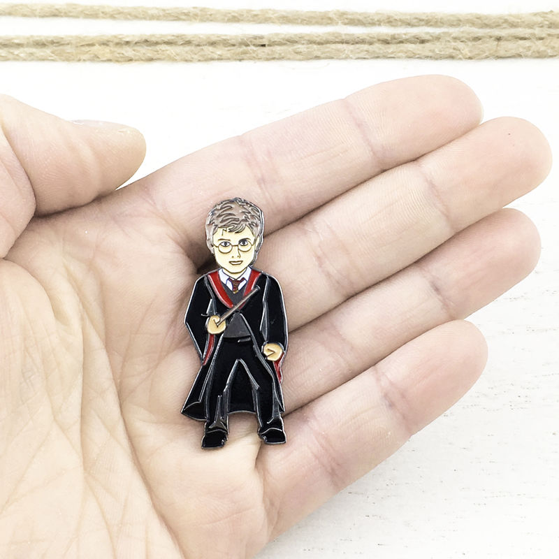 Harry Potter Figure Enamel Pin - product images  of