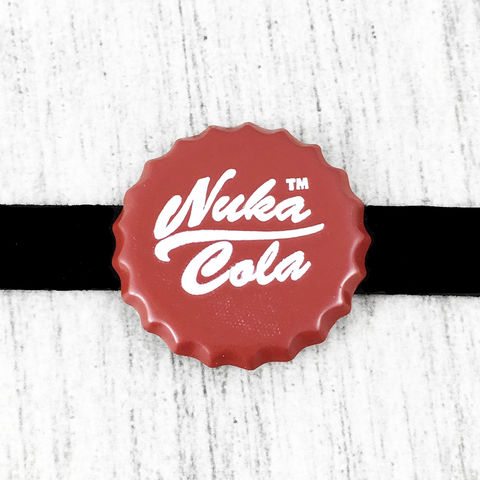 Nuka,Cola,Choker,Necklace,nuka cola, choker necklace, fallout, fallout 4, red bottle cap, gamer, geek, jewelry