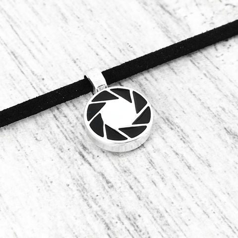 Portal,Aperture,Science,Choker,Necklace,portal, portal 2, aperture, choker, necklace, science, laboratories, pendant, camera, photography, gamer, geek, short