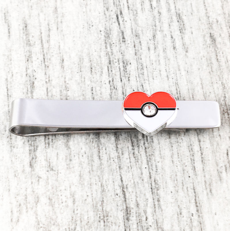 Pokéball Heart Tie Clip - product images  of