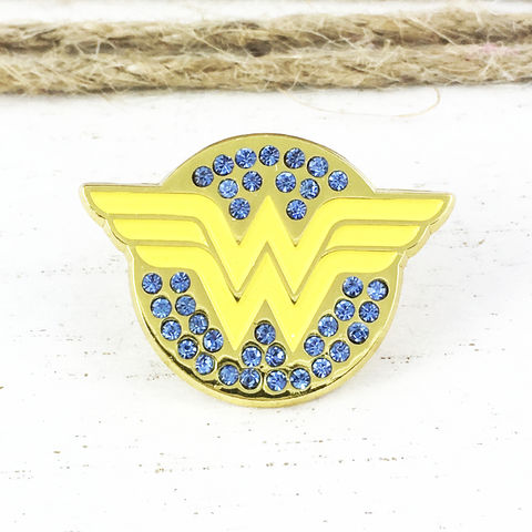Wonder,Woman,Glitter,Enamel,Pin,wonder woman, enamel pin, classic, sparkly, glitter, bling, glam, lapel pin