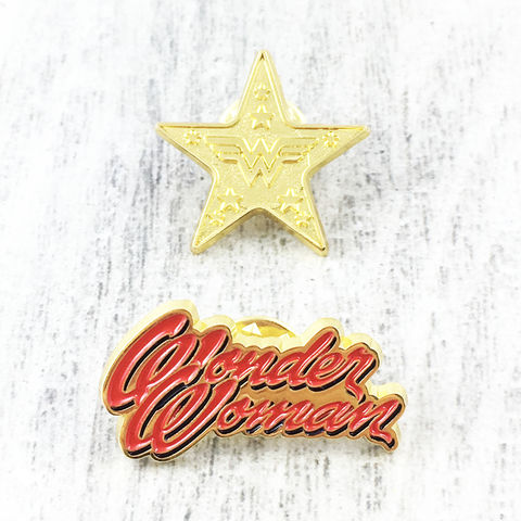 Wonder,Woman,Golden,Age,Pin,Set,wonder woman, enamel pin, classic, retro, golden age, lapel pin