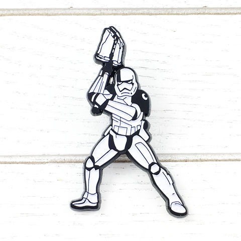 Star,Wars,Riot,Control,Stormtrooper,Enamel,Pin,star wars, stormtrooper, storm trooper, first order, riot control, enamel pin, episode 8, viii