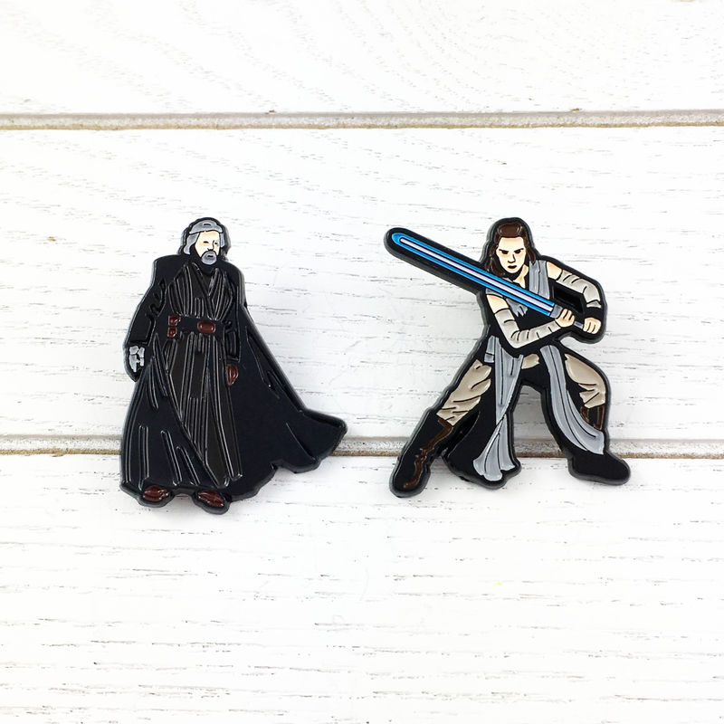 Star Wars Luke Skywalker and Rey Enamel Pin Set - product images  of