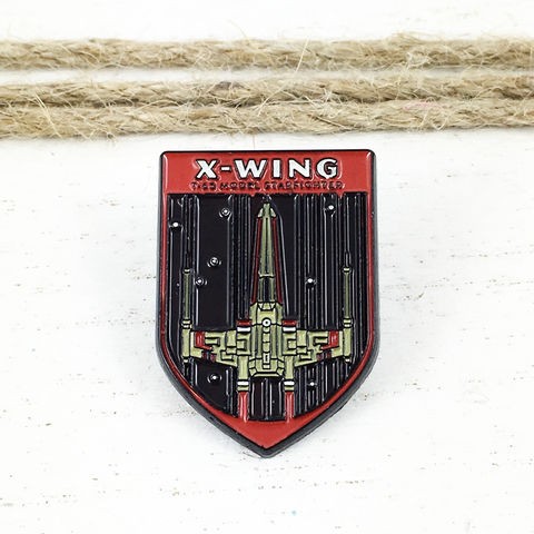 Star,Wars,|,X-Wing,Flag,Enamel,Pin,star wars, enamel pin, x-wing, ship, rebels, lapel pin, sci fi, geek, colour, metal, collection