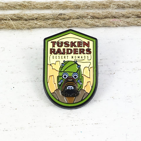 Star,Wars,|,Tusken,Raiders,Flag,Enamel,Pin,star wars, enamel pin, tusken raiders, sand people, tatooine, lapel pin, sci fi, geek, colour, metal, collection