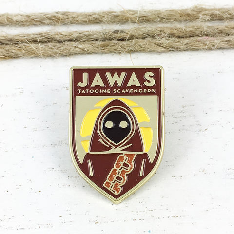 Star,Wars,|,Jawas,Flag,Enamel,Pin,star wars, enamel pin, jawas, tatooine, lapel pin, sci fi, geek, colour, metal, collection
