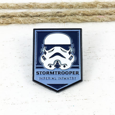 Star,Wars,|,Stormtrooper,Badge,Enamel,Pin,star wars, enamel pin, stormtrooper, storm trooper, clone trooper, classic, lapel pin, sci fi, geek, colour, metal, collection